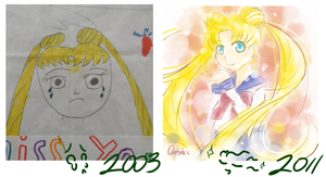 onshii's serena then and now by KENZICHII