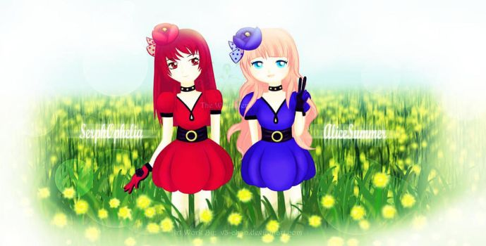 SerphOphelia and AliceSummer by v3-chan