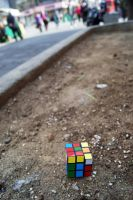 Lonely Rubik's Cube by NamekAngelIvy