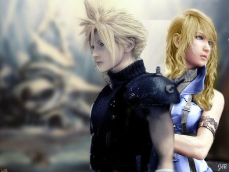 Cloud and Tsuki the forgotten City by Jman023