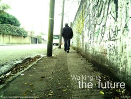The walking to the future by momoshiroPrTn