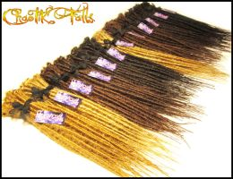 Natural Colored Synthetic Dreads by ChaotikFalls