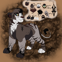 Lioness Auction three CLOSED by BeeStarART
