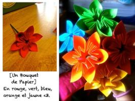 Paper Bouquet by debuccino
