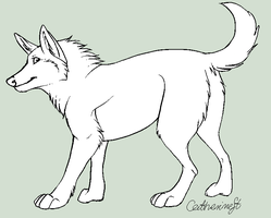 Wolf free lineart II by CatherineSt