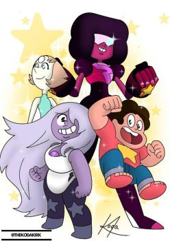 The crystal gems by thekodakirk