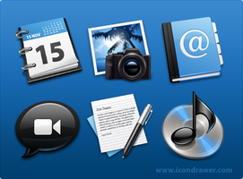 "Black' Blue Icons ""Conversion"" by smarties-gfx"