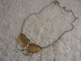 Vintage Two-tone Avon Butterfly Pendant by sevvysgirl