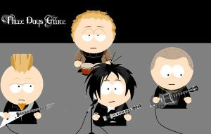 Three Days Grace - South Park by Bogardeth