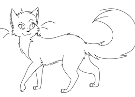 Cat Lineart by evertenn