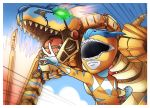 Tigrex Ranger with Tigrex Dinozord by ashmish