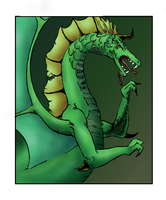 Green Dragon, colored by Swordgleam