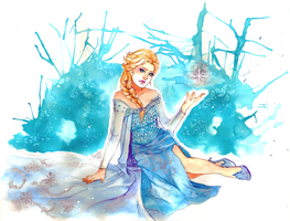 Elsa from Frozen by utenaxchan