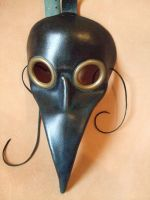 Blue Doctor Plague Leather Mask by Lara-Mila