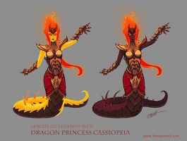 Dragon princess Cassiopeia by Shockowaffel