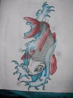 Koi tattoo by kaosu666