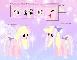 Sugar Moon Reference Sheet (bio) by SugarMoonPonyArtist