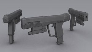 Halo 3 ODST - M6C/SOCOM Automag by Ajemsuhgao
