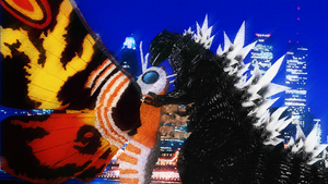 GodzillaXMothra - The King and the Queen by KingAsylus91