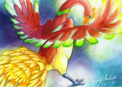 Diving through the sky - Ho-oH by Kazelyn
