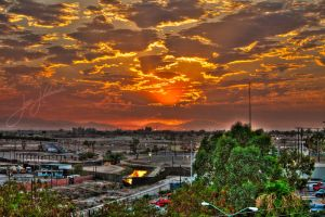 Mexicali Calexico Sunset HDR by elshopper