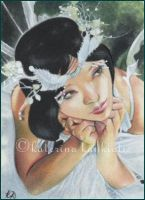 Fairy Bride - ACEO by Katerina-Art