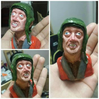 steve crazy eyes buscemi sculpture  by ClukinCok