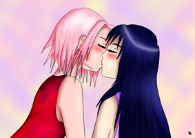 Kiss the girl - SakuHina v1 by Elea123