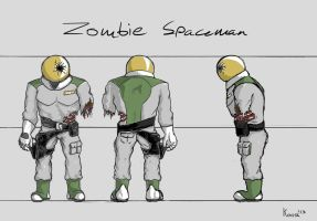 Zombie spaceman by Koosh-Ball
