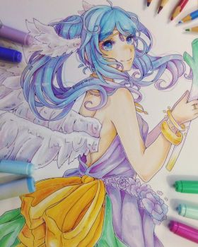 Certainly A Goddess! - Hatsune Miku Fanart by MangaSeyren