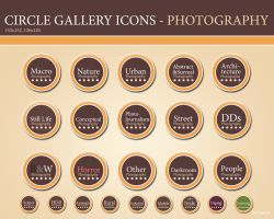 Circle Gallery Icons - Photography (Brown) by xbastex2