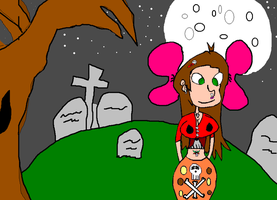 Skutena in Fall in A graveyard by themanfromhyrule