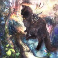 Black cat of  Forest by turumi963