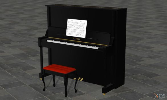 Upright Piano (posable) Update for XPS by Haganeya