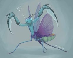 October 13 - Bladed Mantis by shelldragon