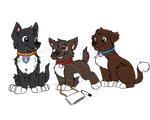 Gift: SmokyXKailey pups by Musicalmutt2