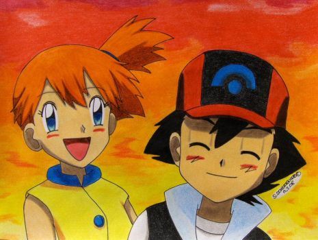 we have fun together by Ash-Misty-Pikachu