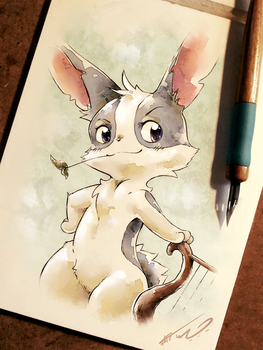 Grizzled Old Rabbit by HalcyonMoufette