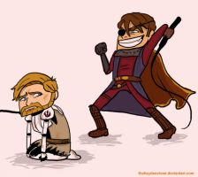 Obi-Wan and Anakin Clone Wars by thehaydenclone