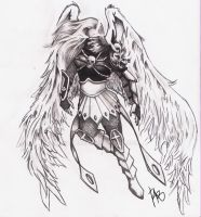Kayle Sketch by Zombiek9