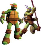 Mikey and Donnie by MLPfimAndTMNTfan