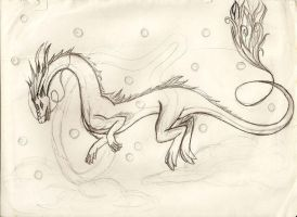 Dragon sketch by kristhasirah