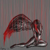 Heartbroken angel by SephirothMichaelis