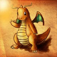 Vintage Dragonite by Shadowsprint
