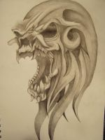 Tribal Skull pic2 by slayer720