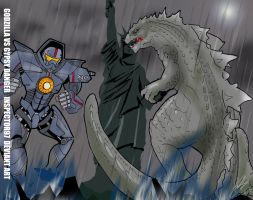 Godzilla Vs Gypsy Danger by Inspector97