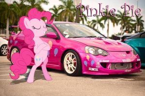 Pinkie Pie's Pink Honda Integra At The JDM Meet by rainbowdash5846