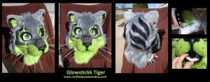 Glowstickk Tiger head by stuffedpanda-cosplay