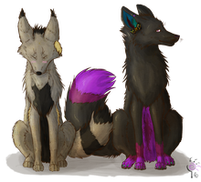 :request: Juuden and Shea by PawzMallina