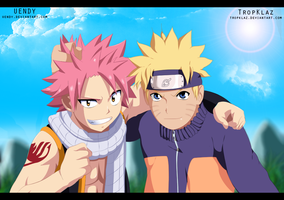 Crossover Naruto and Natsu COLLAB by Uendy